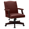 Lorell® Traditional Executive Bonded Leather Chair - Burgundy