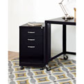 "Lorell® 19"" SOHO Mobile Pedestal File - Box/Box/File - Black"