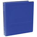 Omnimed® 2-1/2 Silver Base Anti-Microbial Binder - Side Open, Blue