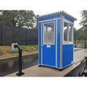Guardian Booth; 4'x4' Guard Booth, Blue - Economy Model, Pre-Assembled
