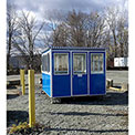 Guardian Booth; 8'x10' Guard Booth, Blue - Economy Model, Pre-Assembled