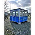 Guardian Booth; 8'x8' Guard Booth, Blue - Economy Model, Pre-Assembled