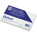 "Oxford® UnRule Index Cards 50, 5"" x 8"", White, 100/Pack"