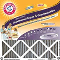 "Arm & Hammer KO12X12X1 Max Carbon Odor Air Filter 12"" x 12"" x 1"", MERV 11, 4 Pack"