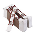 PM Company Color-Coded Kraft Currency Straps 55033, $50 Bill, $5000, Self-Adhesive, 1000/Pack