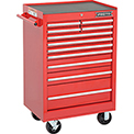 "Proto J442742-11RD 440SS 27"" Roller Cabinet - 11 Drawer, Red, 27""L X 42""H X 18""D"