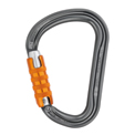 Petzl® William Triact-Lock Carabiner, Aluminum, Gray