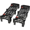 "Global EL-12406 Expandable EZ Lock Platform Pallet, 12"" x 40"" x 6"", 1 Pair"
