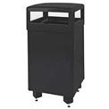 "Rubbermaid® R36HTS 29 Gallon Hinged Top Garbage Can, Black, 21"" Sq. x 40"" H"