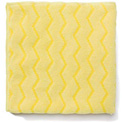 "Rubbermaid® Reusable Microfiber Cleaning Cloths 16"" x 16"", Yellow 12/Case - RCPQ610"