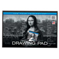 "Roaring Spring Drawing Tablet, 12"" x 18"", White, 30 Sheets/Pad, 12 Pads/Pack"