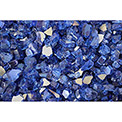 "Hiland Fire Glass RFGLASS-CBLT 1/4"" to 1/2"" Dia. Reflective Cobalt Blue 10 Lbs"