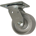 "RWM Casters 46 Series 4"" Cast Iron Wheel Swivel Caster - 46-CIR-0420-S"