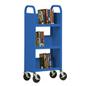 Sandusky® SL33017 3-Shelf Single Sided Mobile Utility Truck 17x13 - Blue
