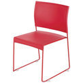 Safco® Currant Stack Chair - Red/Red Frame - 4 Pack