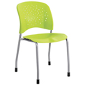 Safco® Reve™ Guest Chair Straight Leg with Round Back - Grass - 2 Pack