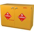 "24 Gallon, Under-the-Counter Flammable Cabinet, Left Hinge, Manual Close, 23""W x 22""D x 35-1/2""H"