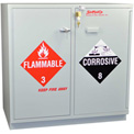 Acid (18x2.5 Liter)/Flammable (16x1 Gal.) Cabinet, Fully Lined, Manual Close, 35 x 22 x 35-1/2