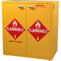 "24 Gallon, Flammable Cabinet w/Flame Arrestors, Manual Close, 30""W x 18-1/2""D x 32-1/2""H"