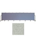 "Screenflex 9 Panel Portable Room Divider, 4'H x 16'9""L, Vinyl Color: Mint"