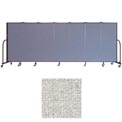 "Screenflex 7 Panel Portable Room Divider, 5'H x 13'1""L, Vinyl Color: Granite"