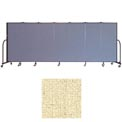 "Screenflex 7 Panel Portable Room Divider, 5'H x 13'1""L, Vinyl Color: Hazelnut"