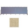 "Screenflex 9 Panel Portable Room Divider, 5'H x 16'9""L, Vinyl Color: Sandalwood"