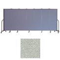 "Screenflex 7 Panel Portable Room Divider, 6'H x 13'1""L, Vinyl Color: Mint"