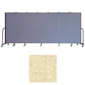"Screenflex 7 Panel Portable Room Divider, 6'H x 13'1""L, Vinyl Color: Hazelnut"