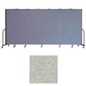 "Screenflex 7 Panel Portable Room Divider, 6'8""H x 13'1""L, Vinyl Color: Mint"