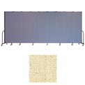 "Screenflex 9 Panel Portable Room Divider, 7'4""H x 16'9""L, Vinyl Color: Hazelnut"