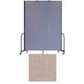 "Screenflex 3 Panel Portable Room Divider, 8'H x 5'9""L, Vinyl Color: Raspberry Mist"