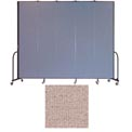 "Screenflex 5 Panel Portable Room Divider, 8'H x 9'5""L, Vinyl Color: Raspberry Mist"