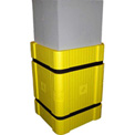 "Park Sentry® Column Protector Kit - For 24"" x 24"" Square Columns, Yellow"