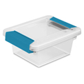 "Sterilite Mini Clip Clear Storage Box With Latched Lid 19698606 - 6-5/8""L x 5""W x 2-3/4""H - Pkg Qty 6"