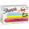 Sharpie® Accent Tank Highlighter, Smear Guard, Chisel Tip, Fluorescent Pink Ink - Pkg Qty 12