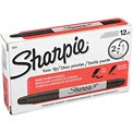 Sharpie® Twin-Tip Permanent Marker, Fine/Ultra Point, Black Ink  - Pkg Qty 12