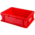 "SSI Schaefer Euro-Fix Solid Container EF4120 - 16"" x 12"" x 5"", Red"