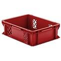 "SSI Schaefer Euro-Fix Mesh Container EF4123 - 16"" x 12"" x 5"", Red"