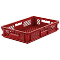 "SSI Schaefer Euro-Fix Mesh Container EF6123 - 24"" x 16"" x 5"", Red"