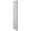 "Salsbury Side Panel 22235 for 21""D Extra Wide Designer Wood Locker without Sloping Hood Gray"