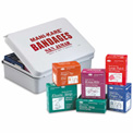 San Jamar MK0909, Mani-Kare® Adhesive Bandages, Value Pack w/Storage Box