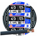 Southwire 28894402 Romex Cable with Ground, White, 6/2 Awg, 125 ft