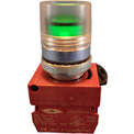 Springer Controls N5CPLVED, Illuminated Push Button, Momentary, Guarded - Green
