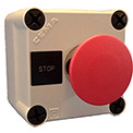 Springer Controls N5PEC103, Emergency Stop Push-Button Station - Momentary - Chrome