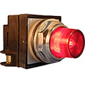 Springer Controls N7PLSRR00-240, 30mm Illum. Push-Button, Extended, Momentary, 240V, No Contacts,Red