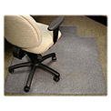 "Lorell® Anti-Static Office Chair Mat for Carpet - 48""L x 36""W, 0.38"" Thick with Lip - Beveled"