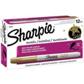 Sharpie® Permanent Marker, Fine, Metallic Gold, Dozen - Pkg Qty 12