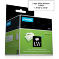 "DYMO® LW Address Labels, Large 1 4/10"" x 3 1/2"" Black on White"