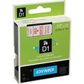 "DYMO® D1 Standard Labels 1/2"" Red on White"